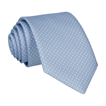 Dickinson Dots Steel Blue Tie