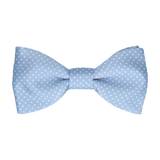 Dusty Steel Blue Tiny Dots Bow Tie
