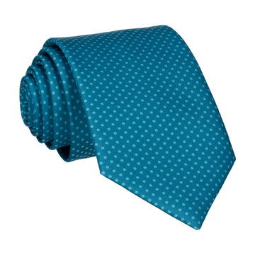 Emerald Sea Teal Tiny Dots Tie