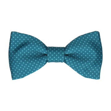 Emerald Sea Teal Tiny Dots Bow Tie