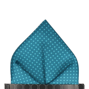 Dickinson Dots Emerald Sea Pocket Square