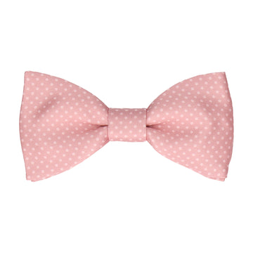 Pink Rose Tiny Dots Bow Tie