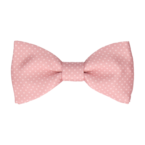 Dickinson Dots Pink Rose Bow Tie