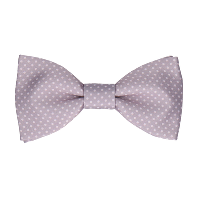 Silver Lavender Dusk Tiny Dots Bow Tie