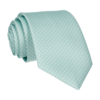 Cool Mint Green Tiny Dots Tie