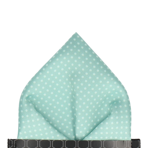 Dickinson Dots Cool Mint Pocket Square