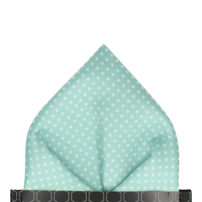 Cool Mint Green Tiny Dots Pocket Square
