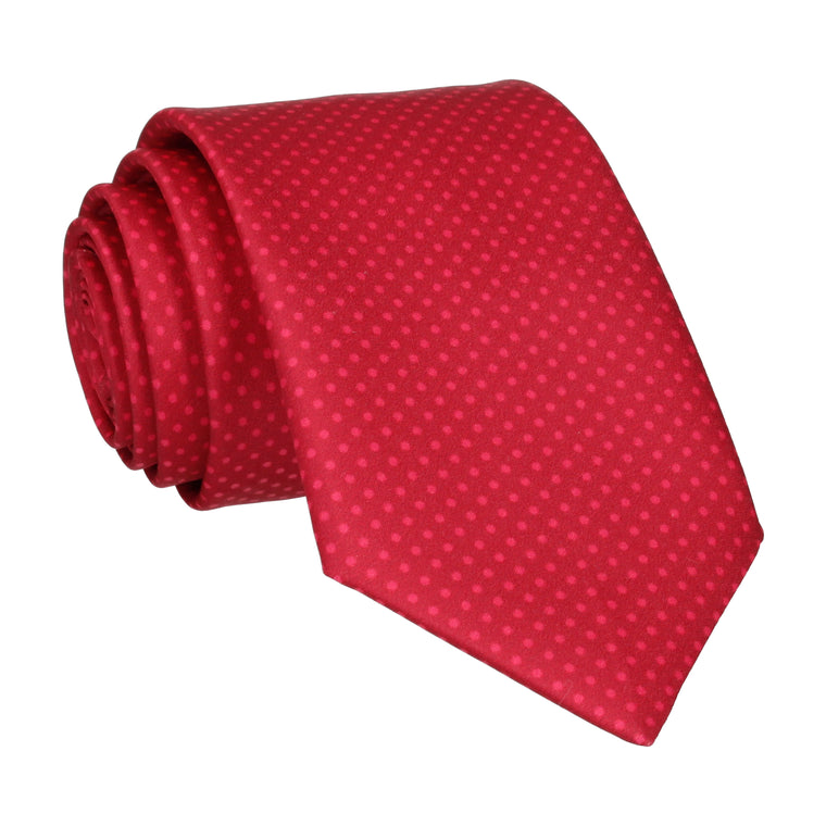 Red Apple Tiny Dots Tie