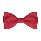 Dickinson Dots Red Apple Bow Tie