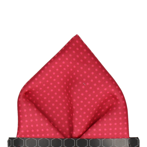 Dickinson Dots Red Apple Pocket Square