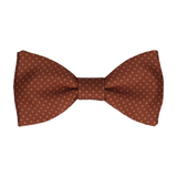 Vintage Brown Tiny Dots Bow Tie