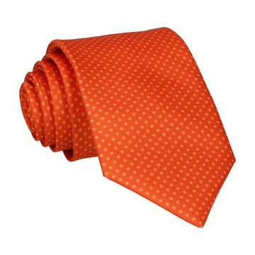 Sunset Orange Tiny Dots Tie