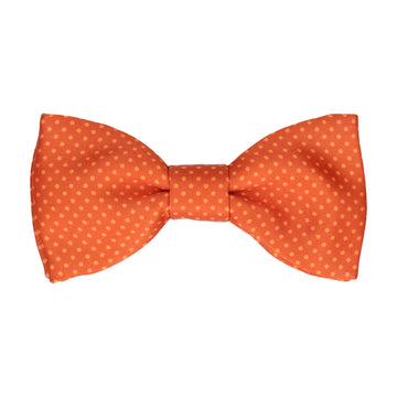 Sunset Orange Tiny Dots Bow Tie