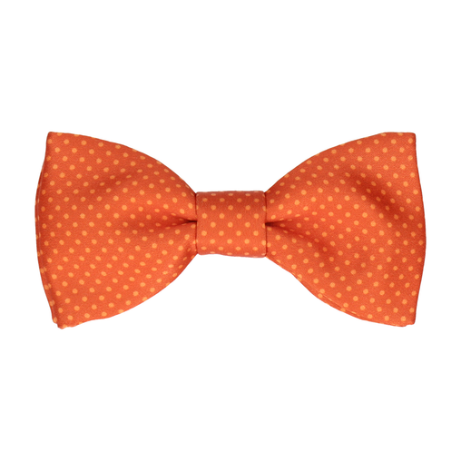 Dickinson Dots Sunset Orange Bow Tie