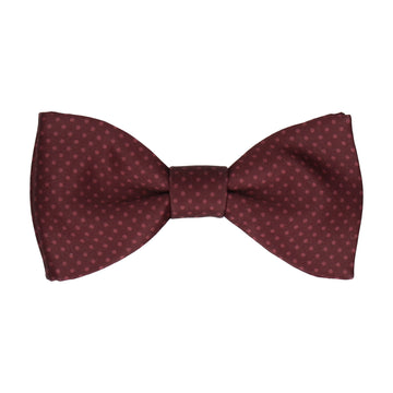 Maroon Red Tiny Dots Bow Tie