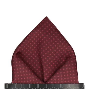 Dickinson Dots Maroon Pocket Square