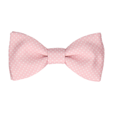 Cherry Blossom Pink Tiny Dots Bow Tie