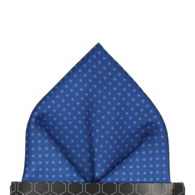Celestial Blue Tiny Dots Pocket Square