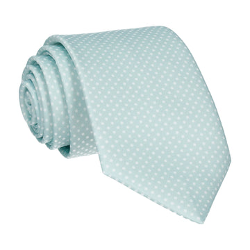 Glacier Green Tiny Dots Tie