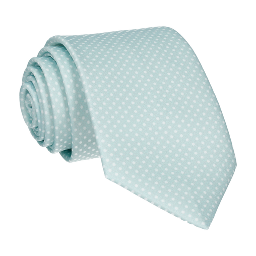 Dickinson Dots Glacier Green Tie