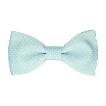 Glacier Green Tiny Dots Bow Tie