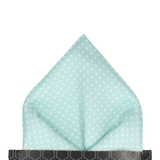 Dickinson Dots Glacier Green Pocket Square