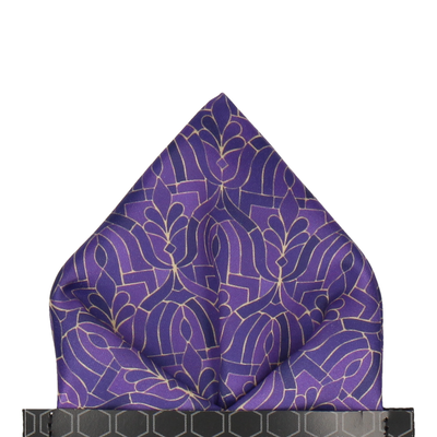 Casablanca in Purple Pocket Square