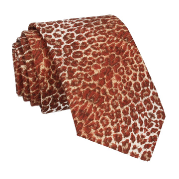 Jaguar Print Cotton Tie