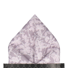 Irving in Silver Lavender Pocket Square