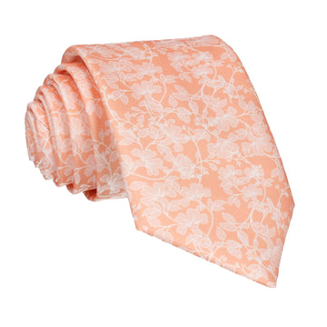 Peach Vine Wedding Floral Tie