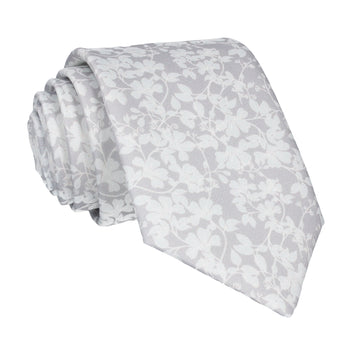 Platinum Grey Vine Wedding Floral Tie