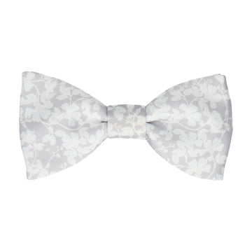 Platinum Grey Vine Wedding Floral Bow Tie