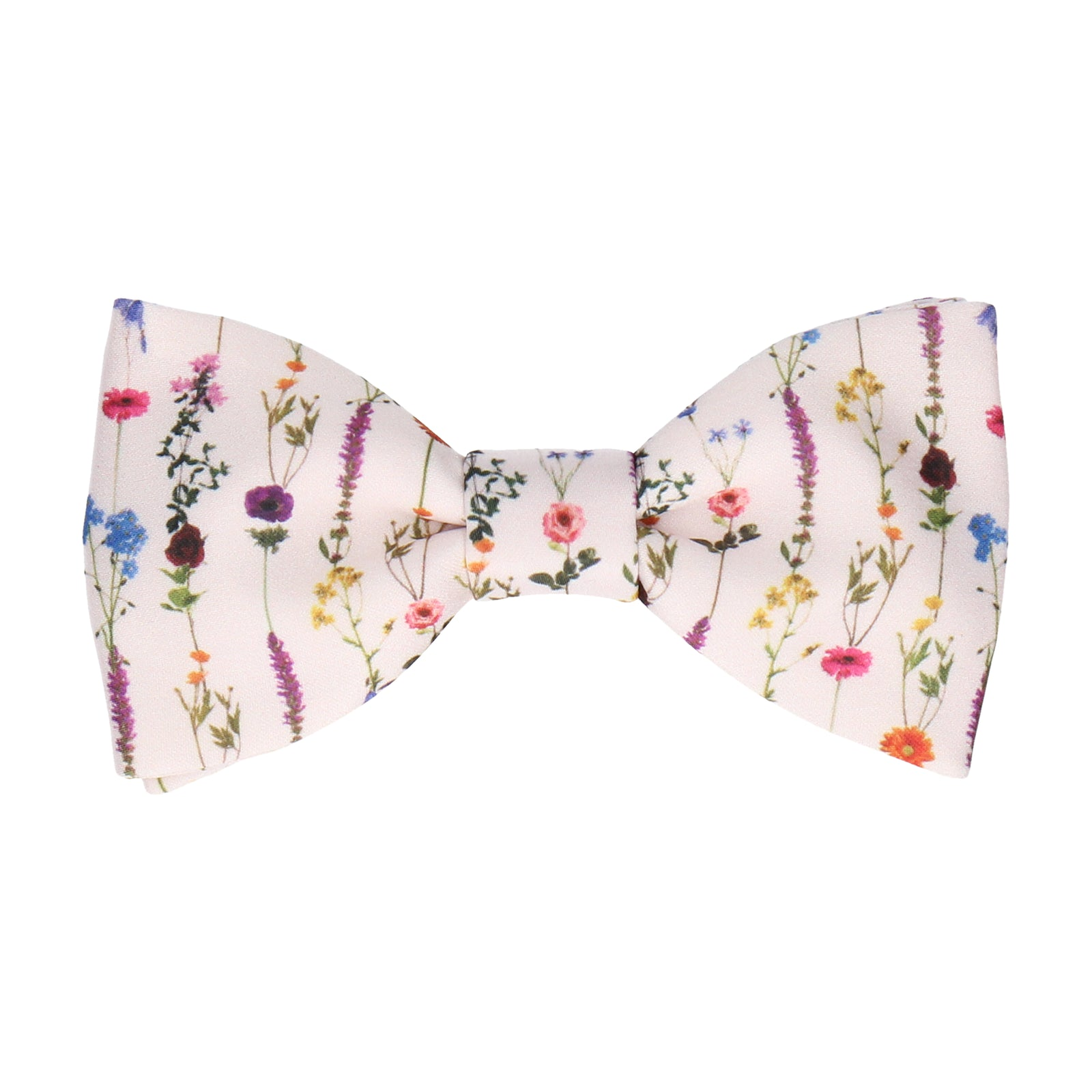 Boho Pink Whimsical Hanging Flowers Bow Tie