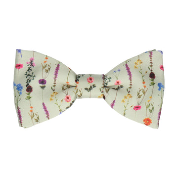 Flower Stems in Sage Green Bow Tie