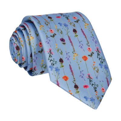 Flower Stems in Dusty Blue Tie