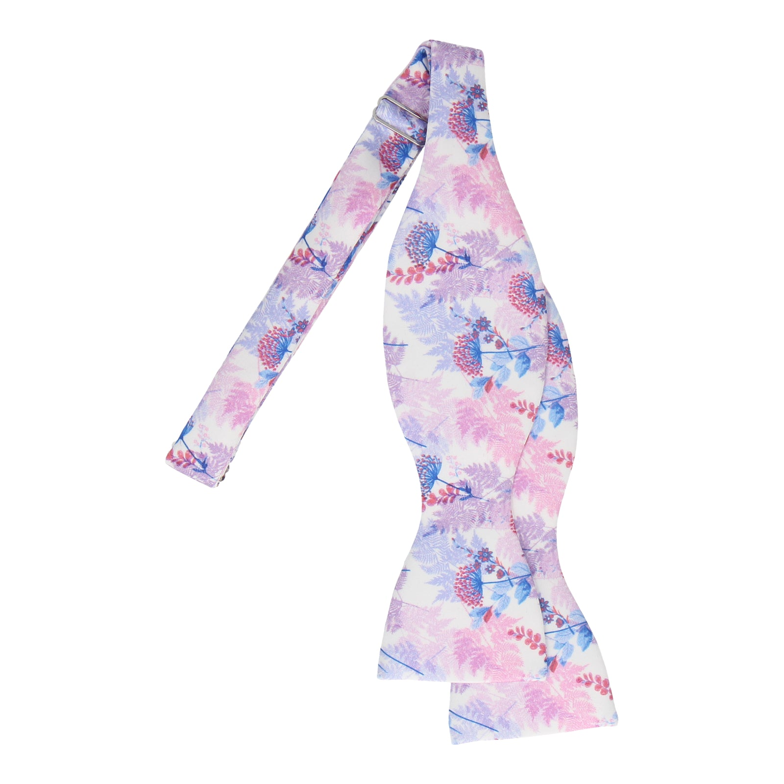 Pink & Purple Woodland Floral Bow Tie