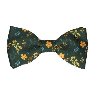 Almelo Floral Green & Yellow Bow Tie