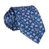 Ditsy Small Floral Navy Blue Tie