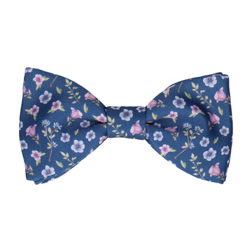 Ditsy Small Floral Navy Blue Bow Tie