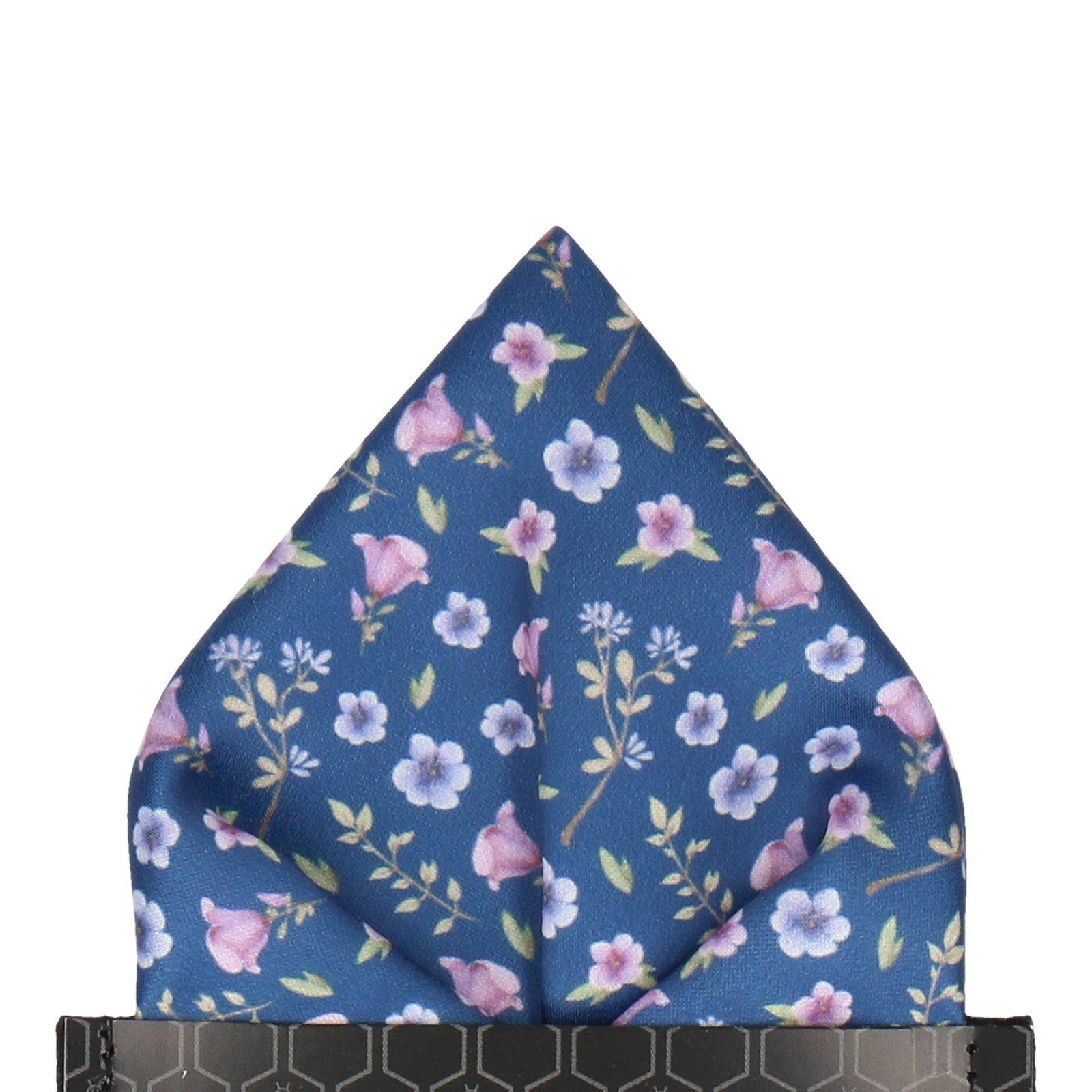 Ditsy Small Floral Navy Blue Pocket Square