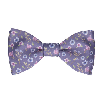 Mauve Light Purple Ditsy Floral Wedding Bow Tie