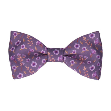 Blossom Ditsy Floral Purple Wedding Bow Tie