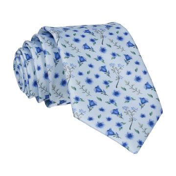 Ditsy Floral Light Blue Wedding Tie