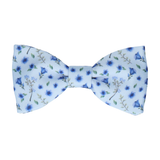 Ditsy Floral Light Blue Wedding Bow Tie