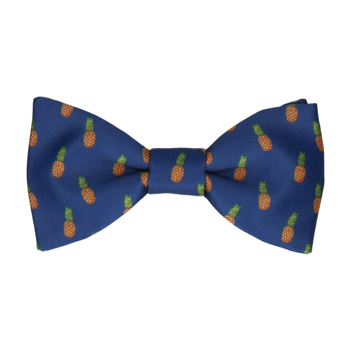 Pineapple Ananas Blue Bow Tie