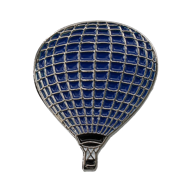 Blue Hot Air Balloon Lapel Pin