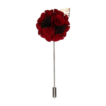 Bouquet (Red & Black) Lapel Pin