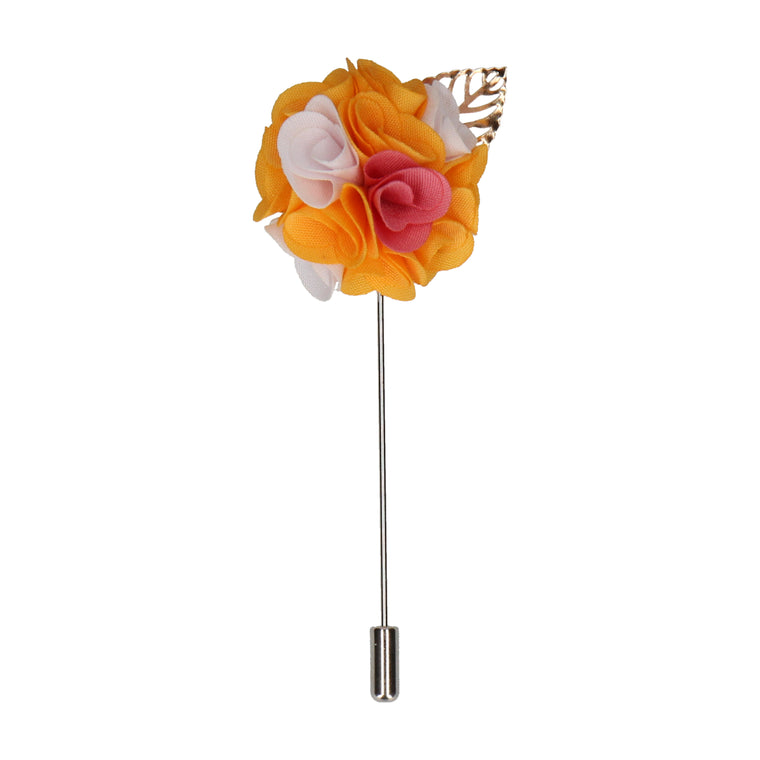Bouquet (Amber & White) Lapel Pin