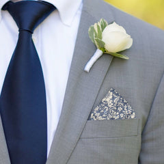Charlton in Copen Blue Pocket Square