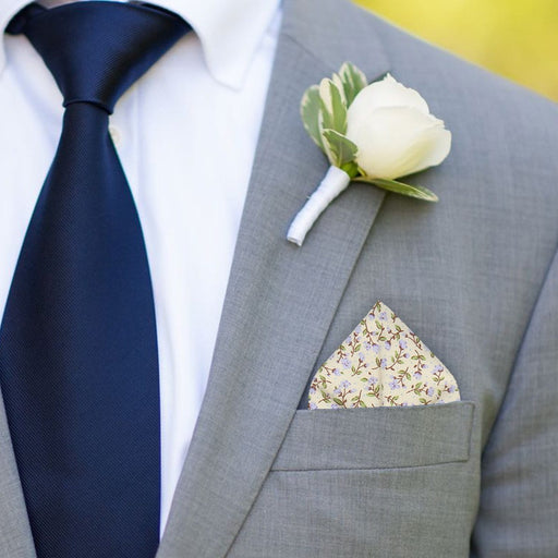 Ashington in Lilac Pocket Square - - Pocket Squares and Handkerchiefs by Mrs Bow Tie